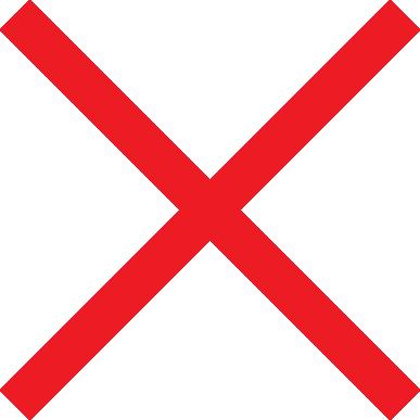 red big x mark