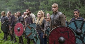 shieldmaid lagertha and bjorn with ragnar