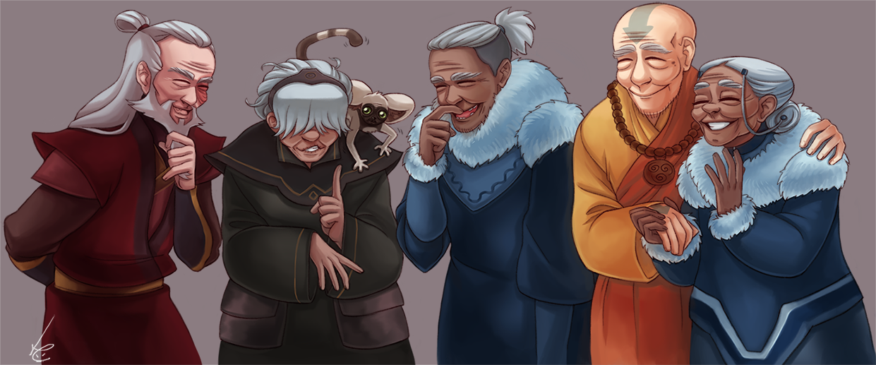 Avatar the last airbender the old gang