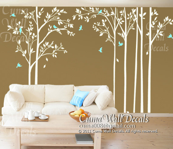 home decorating images tree wall decal birds wall decals office wall