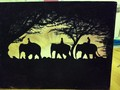 walking elephants - fine-art photo