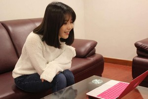 [140409] Jepun Official Fanclub Update - IU watching Jepun Debut 2nd Anniversary Celebration Message