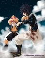 *Gray Protects Natsu*