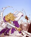*Hakuba Defeats Dellinger* - one-piece photo