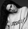 Jessie J photo possibly with a sweatshirt and a portrait entitled                 Jessie J