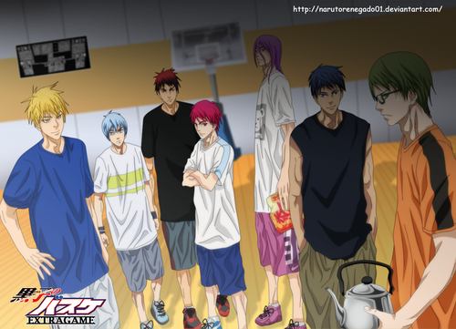 Аниме and Манга Фан Club Обои entitled *Kuroko no basket Extra Game: The new Chapter*