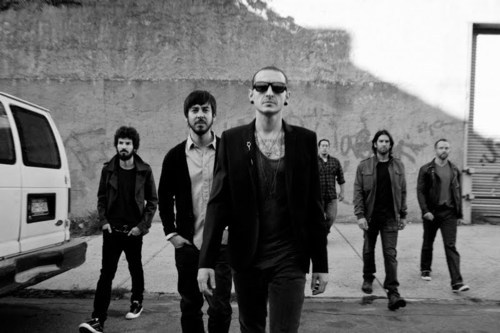 Linkin Park fond d'écran with a street, sunglasses, and a business suit titled Linkin Park