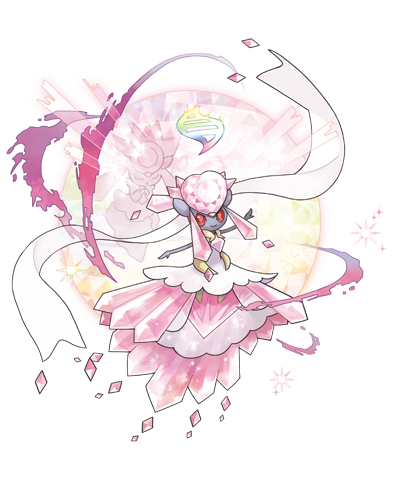 Legendary Pokemon wallpaper entitled   Mega Diancie