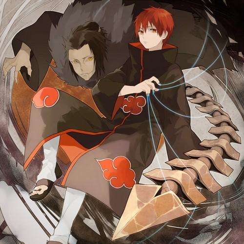 Naruto achtergrond titled ººN a r u t oºº