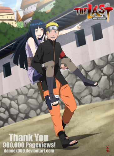 Naruto Shippuuden fond d'écran titled *Naruto X Hinata : Naruto Movie The Last*