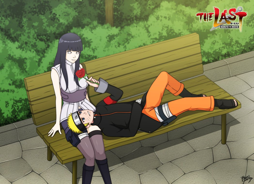 Uzumaki Naruto (Shippuuden) Hintergrund possibly containing hosiery, bare legs, and a hip boot entitled *Naruto X Hinata : Naruto Movie The Last*