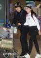141219 ICN airport - sungmin and kim sa eun coming back from their honeymoon - super-junior photo
