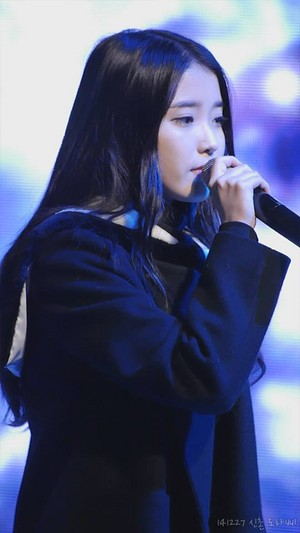 141227 IU performing at the Chamisul Soju Festival