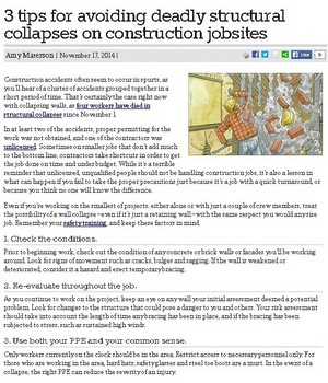 3 tips for avoiding deadly structural collapses on construction jobsites