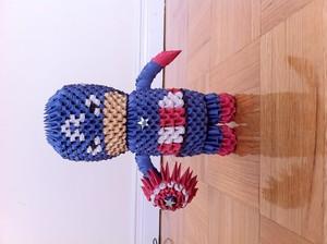3D Origami Captain America
