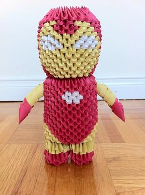3D Origami Iron Man