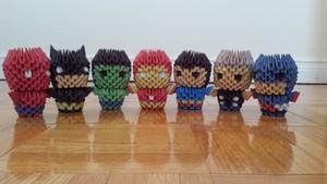 3D Origami Superheros