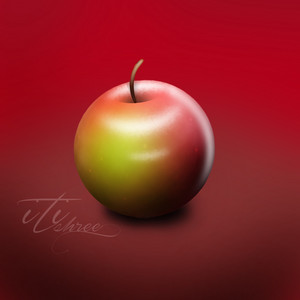 3D apple drawing by me