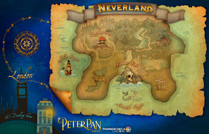 A Map of Neverland from Peter Pan Live.