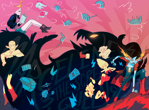 Adventure Time With Finn and Jake wallpaper entitled AWESOME WALLPAPER!(not bubbline)