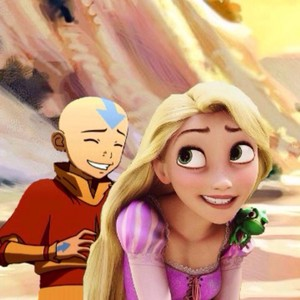 Aang and Rapunzel.