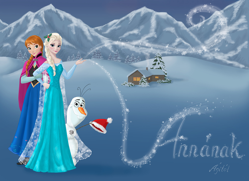 Anna elsa and olaf frozen fan art 37928290 fanpop - Frozen anna and olaf ...
