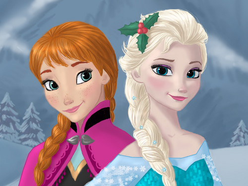 Elsa und Anna Hintergrund called Anna and Elsa