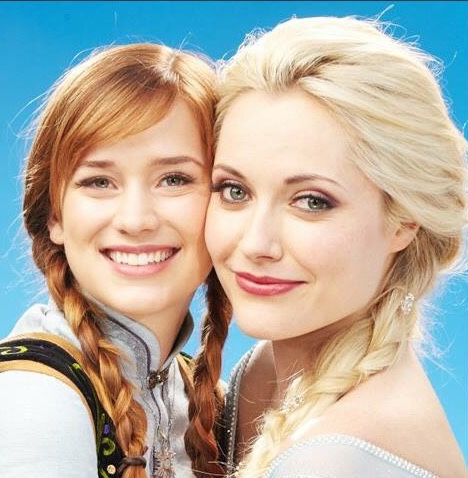 Once Upon A Time wallpaper containing a portrait called Anna and Elsa
