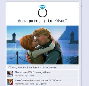 Anna got engaged to Kristoff