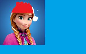 Anna! santa hat