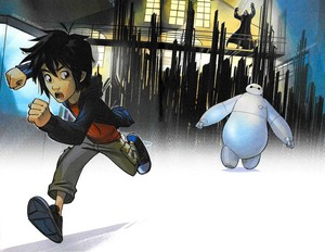 Big Hero 6 Fight to the Finish Book - Hiro and Baymax