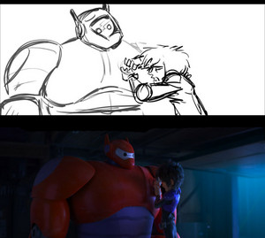 Big Hero 6 Storyboard to Final Version of the Movie