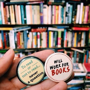 Buttons for Bookworms
