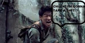 CHUCK! GET IN THE MAZE! MINHO'S GOTTA GO!