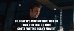 Captain America vs Mjolnir