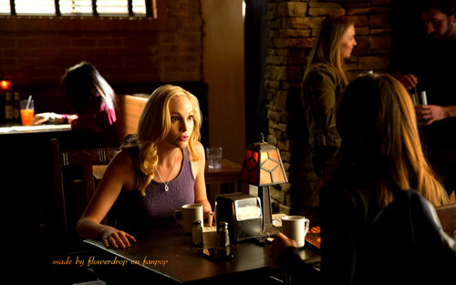 Caroline Forbes 壁紙 probably with a brasserie, a sign, and a 通り, ストリート called Caroline Forbes ღ