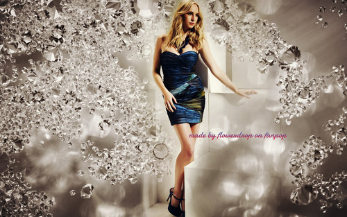 Caroline Forbes 壁紙 possibly with a カクテル dress entitled Caroline Forbes ღ