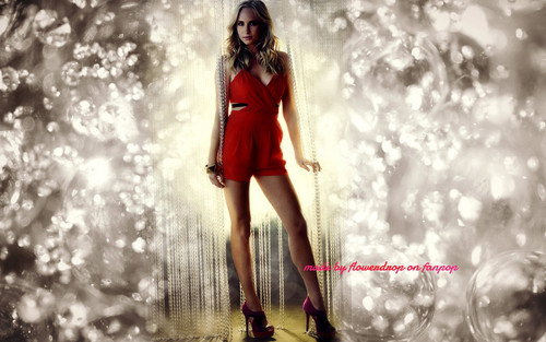 Caroline Forbes wallpaper probably with a fountain, a cocktail dress, and a well dressed person entitled Caroline Forbes ღ