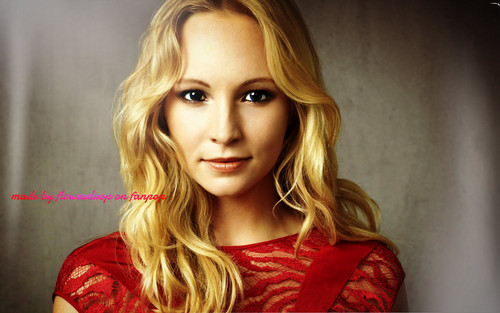 Caroline Forbes 壁紙 possibly with a ブラウス and a portrait titled Caroline Forbes ღ