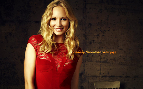 Caroline Forbes wallpaper probably containing a cocktail dress and a portrait titled Caroline Forbes ღ
