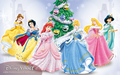 Christmas Disney princesses