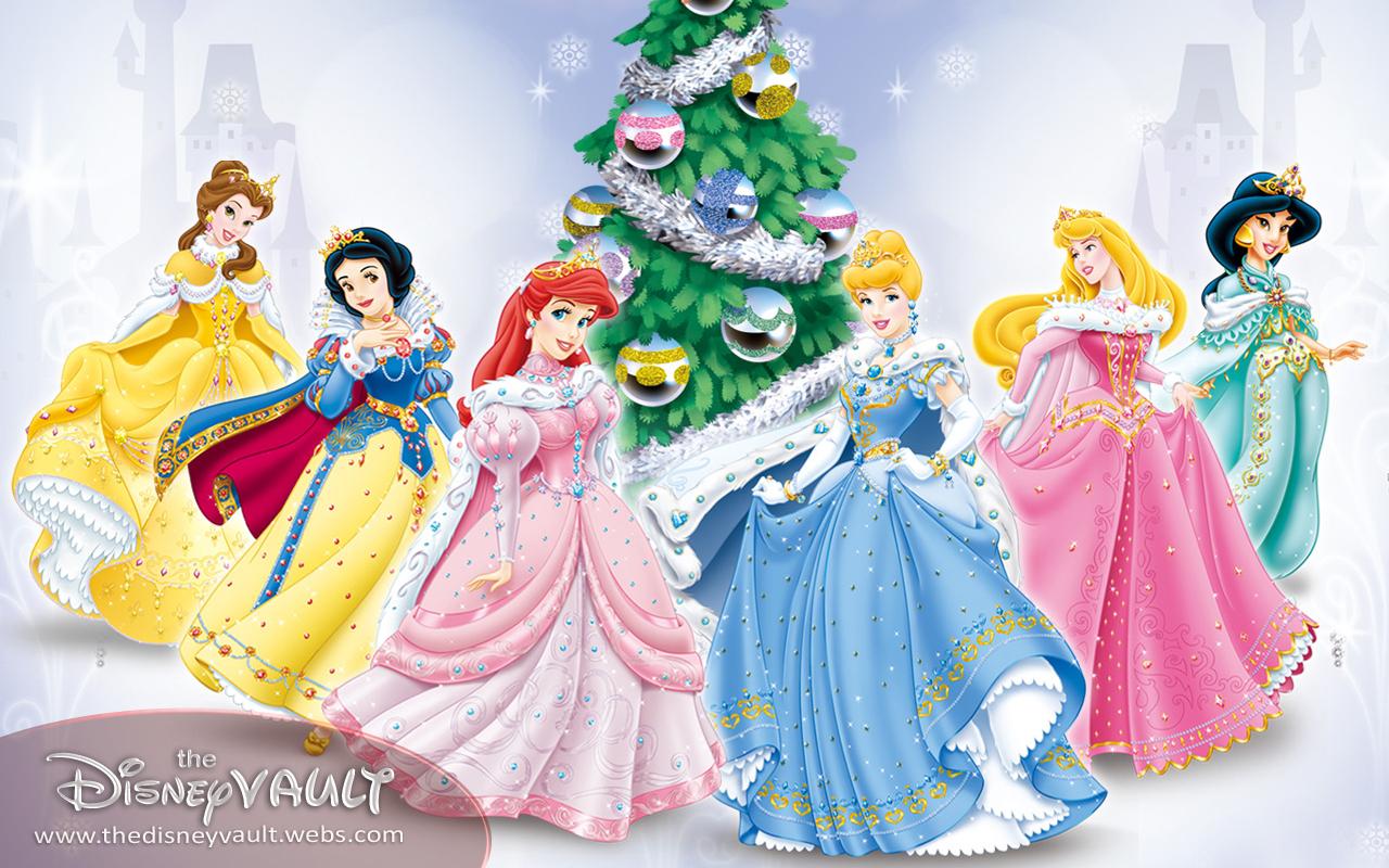 Christmas Disney princesses
