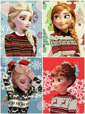 クリスマス Elsa and Anna