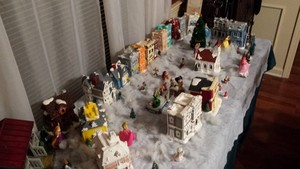 DP figurines in my mom's Christmas village.