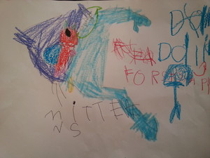 Dalia's Picture of Mittens, Lee and Stampy Cat