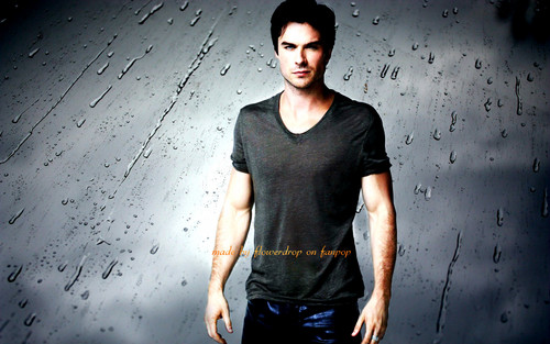 Damon Salvatore wallpaper possibly containing a hunk, a playsuit, and a top titled Damon Salvatore ✯