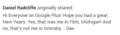 Daniel Radcliffe Post On Google Plus  (FB.com/DanieljacobRadcliffeFanClub) - daniel-radcliffe photo