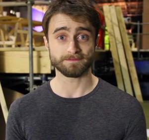 Daniel Radcliffe With 'The Black List' (fb.com/DanieljacobRadcliffeFanClub)