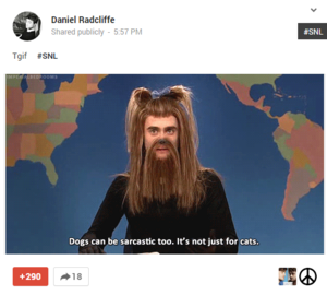 Daniel Radcliffe latest Post On Google Plus (Fb.com/DanieljacobRadcliffefanClub)