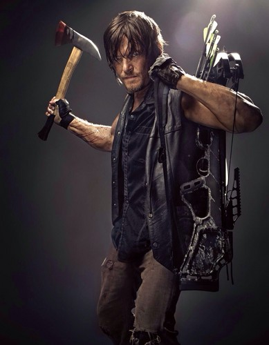 The Walking Dead karatasi la kupamba ukuta probably with a carpenter's hammer titled Daryl Dixon